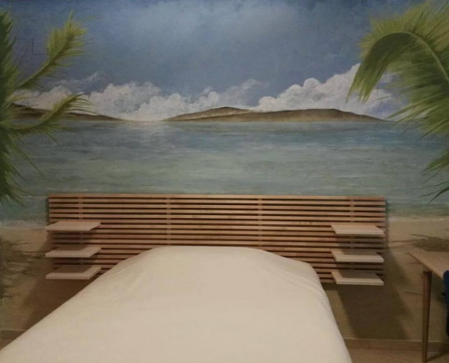Pintura pared dormitorio