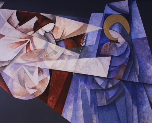 Pintura mural La Anunciación Comedor Jesuitas