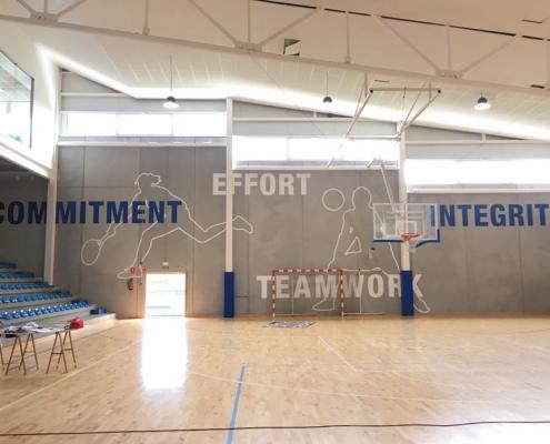 Mural para centro deportivo